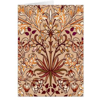 Cartão Impressão, Brown e bege do jacinto de William