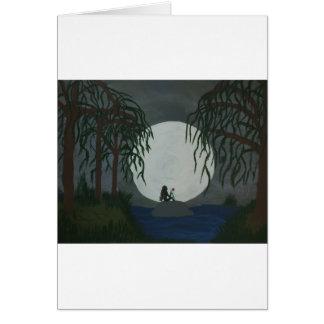 Cartão Impressão da arte da solidão