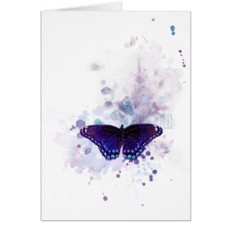 Cartão impressão da tinta da borboleta
