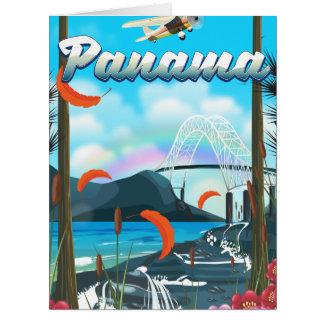 Cartão Impressão das férias do rio de Panamá