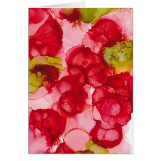 """Cartão """"Impressão de brotamento da arte da tinta do"""