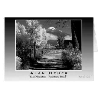 """Cartão Impressão de prata - de """"montanha Taos - estrada"""