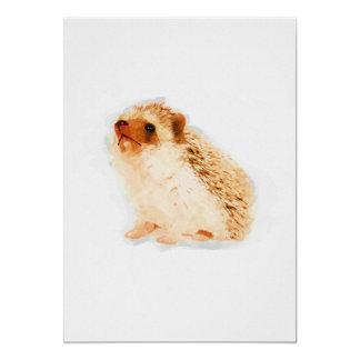 Cartão Impressão do berçário 5x7 da aguarela do ouriço do