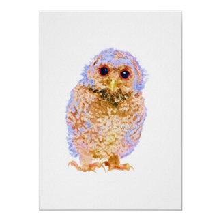 Cartão Impressão do berçário da coruja do bebê do Owlet