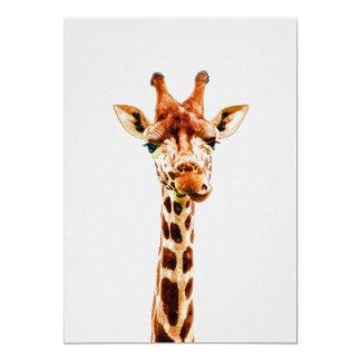 Cartão Impressão do berçário do girafa do bebê em 5x7