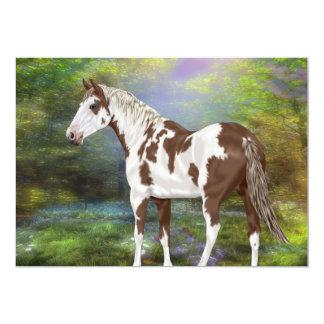 Cartão Impressão do cavalo da pintura de Tovero da azeda