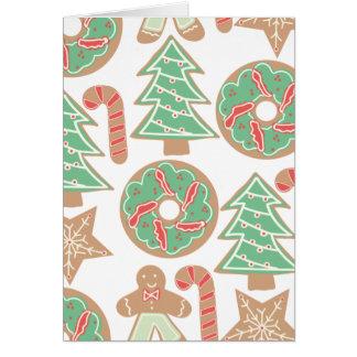 Cartão Impressão do cozimento do Natal