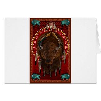 Cartão Impressão do design do búfalo do nativo americano