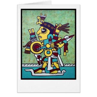 Cartão impressão do guerreiro do mixtec