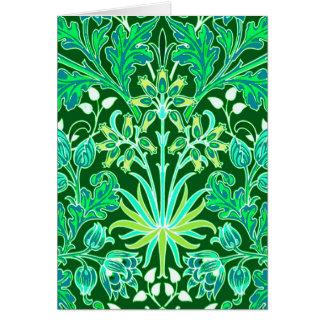 Cartão Impressão do jacinto de William Morris, verde