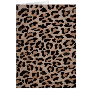 Cartão impressão do leopardo da chita