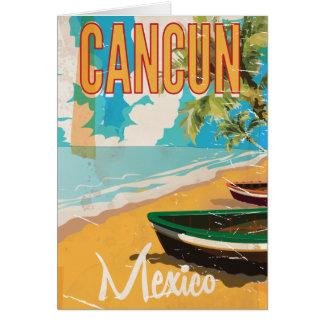 Cartão Impressão do poster das viagens vintage da praia