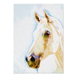 Cartão Impressão do retrato 5x7 da aguarela do cavalo