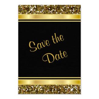 Cartão Impressão dos confetes do brilho do ouro