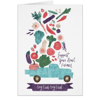 Cartão Impressão fresco do mercado do fazendeiro