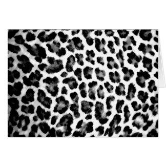 Cartão Impressão preto & branco do leopardo