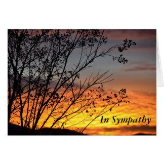 Cartão impressionante da simpatia do por do sol