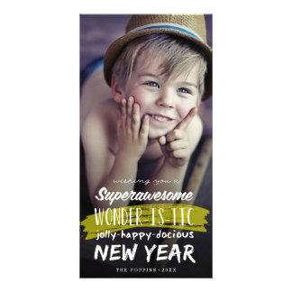 Cartão impressionante super do feriado do ano novo