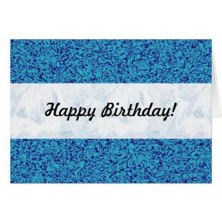 Cartão Impressionismo azul