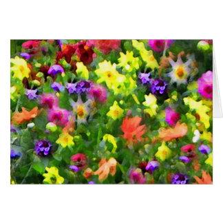 Cartão Impressões florais