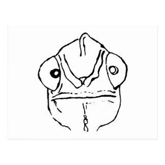 Cartão inábil do gráfico do camaleão