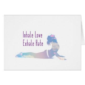Cartão Inale a série da ioga do amor