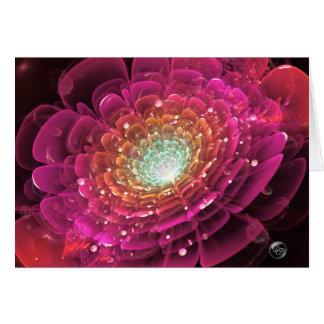 Cartão Incandescer cor-de-rosa aumentou na pintura