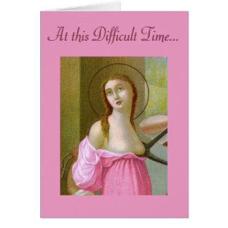 Cartão Incentivo cor-de-rosa do St. Agatha (M 003)