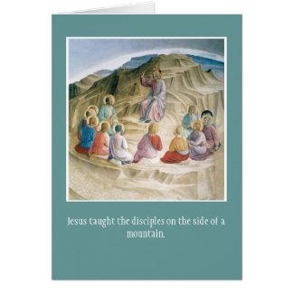 Cartão-Incentivo cristão do cumprimento Cartão