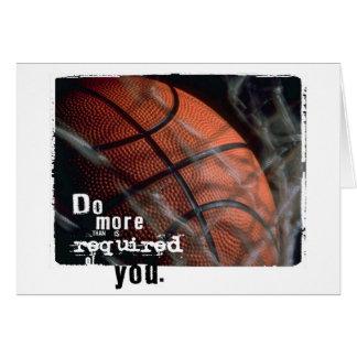 Cartão incentivo do basquetebol