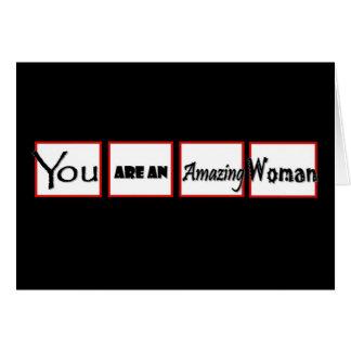 Cartão Incentivo do divórcio você é uma mulher