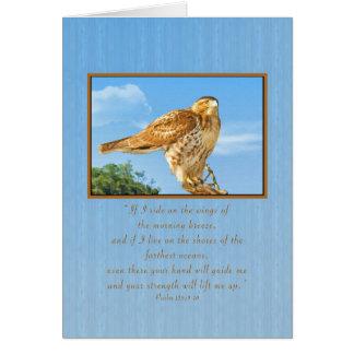 Cartão Incentivo, falcão Áspero-equipado com pernas