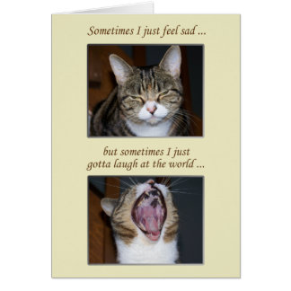 Cartão Incentivo para uma doença, gato bonito