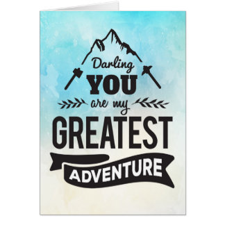 Cartão Incentivo - você é minha grande aventura