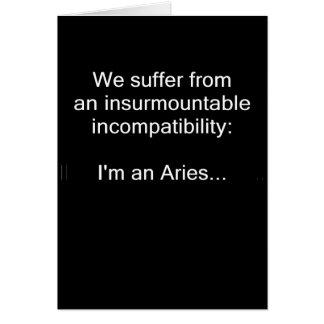 Cartão Incompatibilidade do Aries