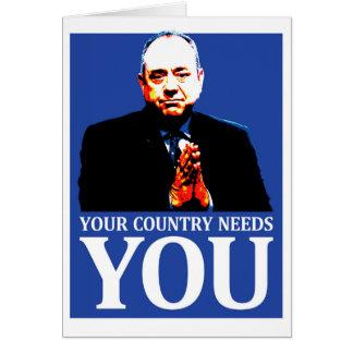 Cartão Independência escocesa: Seu país precisa-o,