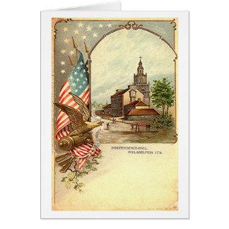 Cartão Independência Salão do vintage