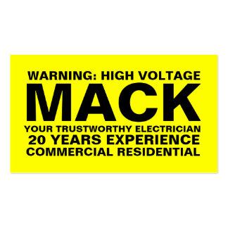Cartão indestrutível amarelo de 311 eletricistas modelos cartões de visitas