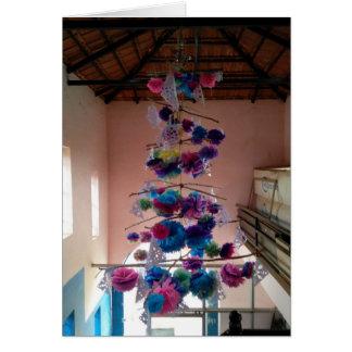 Cartão indiano da árvore de Natal