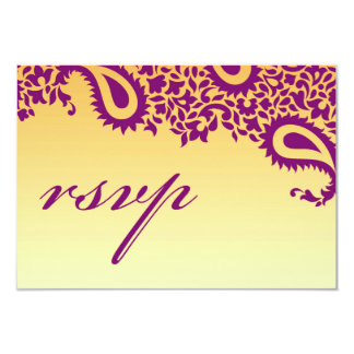 Cartão indiano do estilo do casamento de RSVP Convite 8.89 X 12.7cm