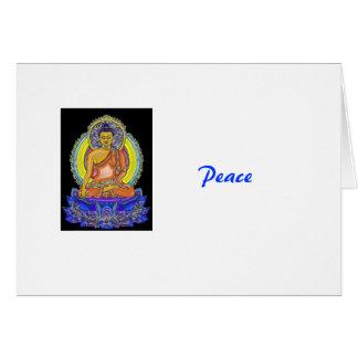 Cartão Índigo Lotus Buddha