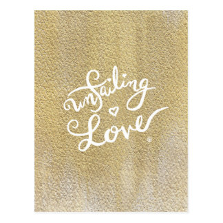 Cartão infalível do amor - caligrafia/ouro