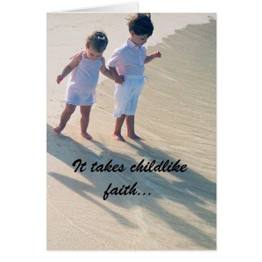 Cartão infantil da fé
