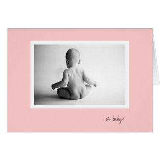 Cartão inferior do bebê - menina