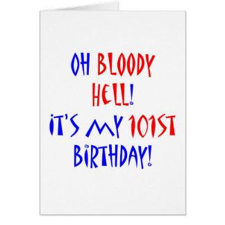 Cartão Inferno 101 sangrento