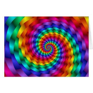 Cartão Infinidade do Fractal da espiral do arco-íris do