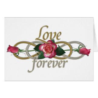 Cartão Infinidade dobro - amor dos rosas para sempre
