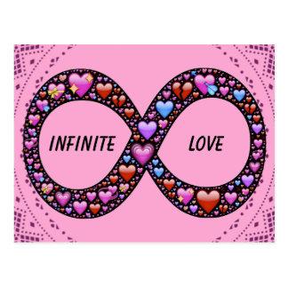 Cartão infinito do amor