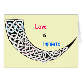 Cartão infinito do dia dos namorados do amor