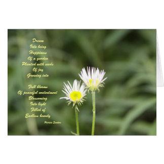 Cartão infinito do poema da beleza